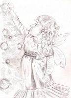 Christmas Willow Faery by Willowsmummy