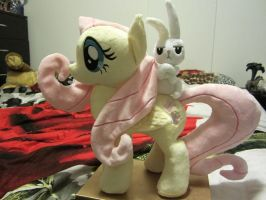 MLP fluttershy and Angel plush by Little-Broy-Peep