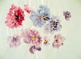Pretty Flowers by chinesepaintings