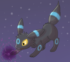 Umbreon used Shadow Ball by FuwaKiwi