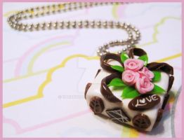 Wedding Cake Necklace by cherryboop