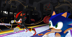 Sonic Vs Shadow by jetsco