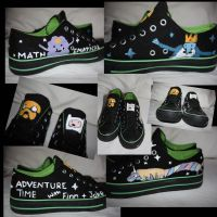 Adventure Time Shoes by bene-bess
