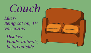 Chara Profile Couch by Ferret-X