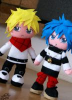 Nobu and Shin plushes by nitanita