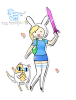 Fionna and Cake ~ by Esha-R