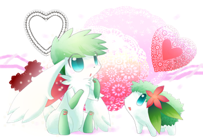 AT-POOfy Sky and Land Shaymin by Rexcalibur25