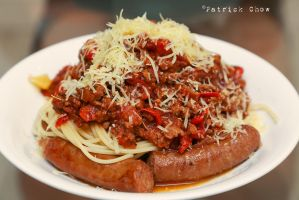 Beef sausage spaghetti by patchow