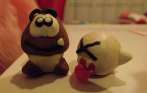 Goomba and Boo by NatSilva