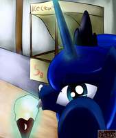 Princess Luna - You can't lick OUR ice cream!!! by Dragk