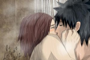 Obito and Rin: In Shower by Lesya7