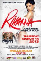 Rihanna Diamonds World Tour Promo poster by DeityDesignz