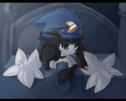 Sleepy Klonoa by Akusuru