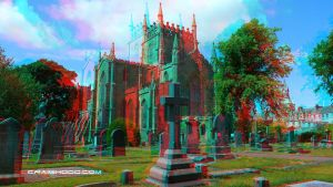 Dunfermline abbey  (3D anaglyph red/blue) by waigy