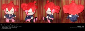 Cute sitting Kasane Teto plushie by Neon-Juma