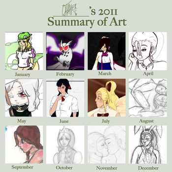 I Improved This Much: 2011 Art Summary by Osonos-Crimson-Heart