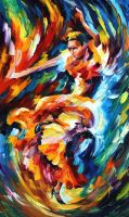 In The Zone by Leonid Afremov by Leonidafremov