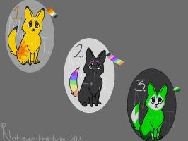 Adoptable Pups 2 by Not-Even-The-Turtle