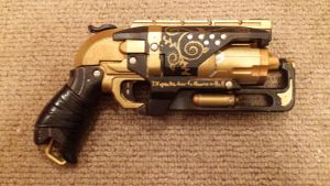 Steampunk Hammershot Revolver by Darquesyde77