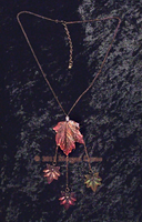 Maple Leaf Necklace w Leaves-5 by MorganCrone