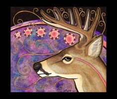 White-Tail Deer as Totem by Ravenari