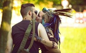Post Apocalyptic Wastelander love by LivingDreadDoll