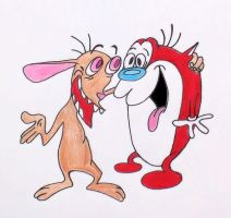 Stimpy Come Here by TheJokesOnYou