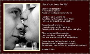Save Your Love For Me by VisualPoetress