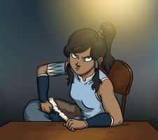 Korra isn't happy. by Empty-Smile