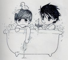 Death Note Bathtime by Loves-Chihuahuas