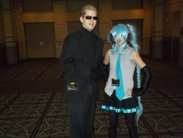 Wesker with Miku by BlueEyesMaster