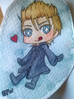Chibi Demyx Watercolor by Tsurakeru