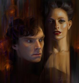 Sherlock and Irene by Olga-Tereshenko