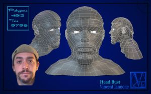 Head Bust Lo-Poly by DeaconStone