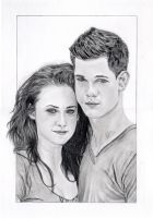 Twilight Saga Bella and Jake by MickeyTheSaviour