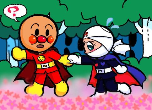 Anpanman and Rollpanna by Yang-Mei