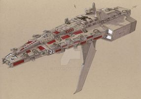 Vindicare-class destroyer by Jepray