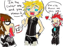 Roxas is the cuter one by Jadethefirefox