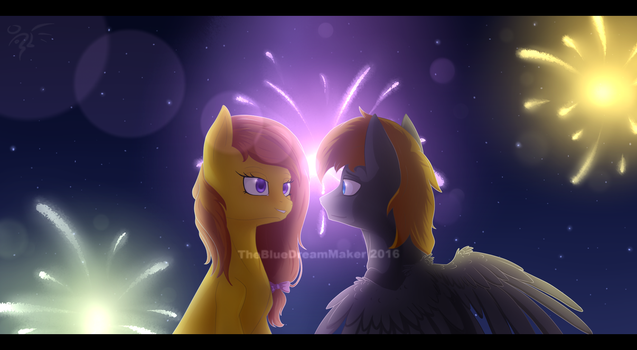:A sweet, romantic moment: (request) by TheBlueDreamMaker
