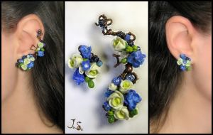 Morning freshness II ear cuff and stud by JSjewelry