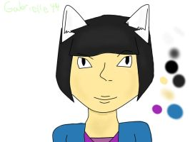 My OC as a cat for Raphiefangirl by gabrielle44