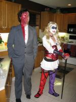 Harley and Two Face by riss4life