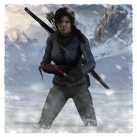 Tomb Raider Reboot: Fighting Through The Snow by Irishhips