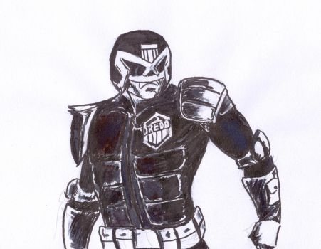 I'am The Law - Judge Dredd by Michael-McDonnell