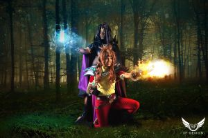 Slayers: Naga the Serpent/ Lina Inverse by SFDesign21