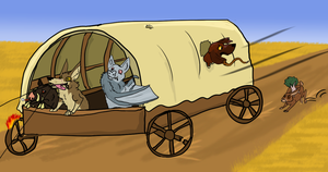 GET IN THE WAGON BITCHES by Songdog-StrayFang