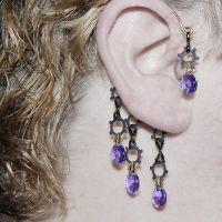 Purple Industrial Ear Wrap V3- SOLD by YouniquelyChic