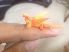 mini PAPER dragon by soulmasterpisces
