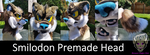 Smilodon Premade Head (FOR SALE) by GraveyardStuffers