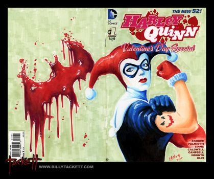 Harley Quinn Sketch Cover by billytackett